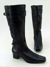 Wadenhohe Stiefel normale Weite (E) aus Echtleder mit mittlerem Absatz (3-5 cm)