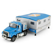 1:50 Trailer Camper Van Motorhome Model Alloy Diecast Toy Vehicle Blue Kids Gift