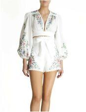BNWT Zimmermann Juliette Cross Stitch Blouse And Shorts Size 0