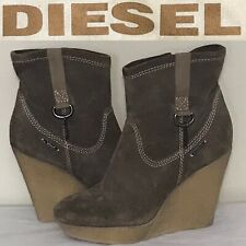 Diesel Jessy Womens Ankle Wedges Boots