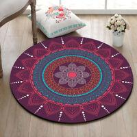 Home Decor Rugs Non-Slip Yoga Area Rug Room Bedroom Carpet Round Floor Mat