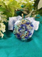 Aquamarine, Tourquoise, & Lapis Lazuli Third Eye Chakra Orgone Energy Pendant