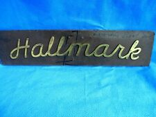 Vintage Pantograph Template Advertising Hallmark Possibly Tire Brass Sign Dc2