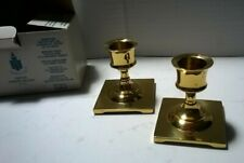 Party Lite Brass Taper Candle Holders-Set Of 2-Copley Pair-Good Condition
