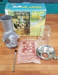 "Vintage KitchenAid Hobart Grain Mill Coffee Grinder Model ""GM"" - RARE NOS NIB"