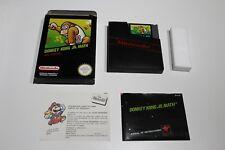 Donkey Kong Jr Math CIB Complete Box new condition Nintendo NES Spanish Version