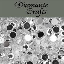 1000 Diamante Loose Flat Back Rhinestone Nail Body Vajazzle Gems Sizes 1mm - 5mm Mixed Colours 4mm