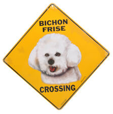 NEW Bichon Frise Dog Crossing Pet Road Sign