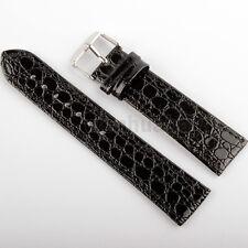 Wholesale 30pcs 20mm Black Genuine Leather Watch Band Strap Buckle Men Unisex