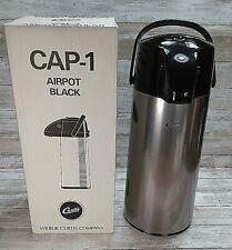 Wilbur Curtis Airpot Black Regular Vacuum Glass Liner 22l Push Button Lid New