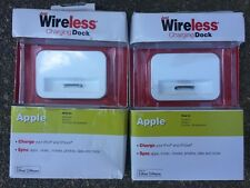 NEW Just Wireless Charging Dock Apple iPhone 4, 4S, iPod Touch(4th Gen)-Lot Of 2
