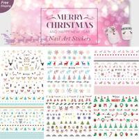 Dear Christmas Nail Art Stickers Water Transfer Reindeer Snowman X'mas Tree