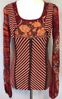 **M** Save The Queen lace Stretch Top Tee Shirt Tunic Dress Blouse Tank ITALY