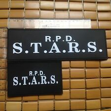 2 PC RESIDENT EVIL R.P.D  S.T.A.R.S. AIRSOFT TACTICAL 3D RUBBER PVC Patch