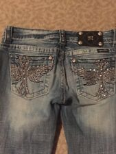 Miss Me Jeans Bling Pockets 27 Bootcut