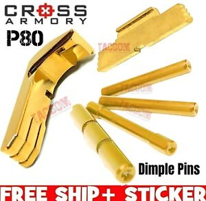 Cross Armory Gold UPGRADE Parts P80 Glock Extended Magazine Catch Slide Lock Pin