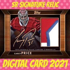 Topps NHL Skate Carey Price Panels Wood Signature Relic digital Card 2021