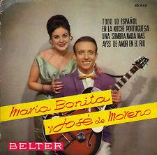 45TRS VINYL 7''/ SPANISH EP MARIA BONITA / JOSE DE MORENO / TODO LO ESPANOL