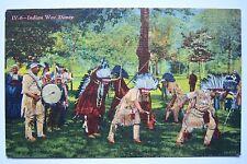 Greetings from Iron Mountain, Michigan postcard. Indian War Dance