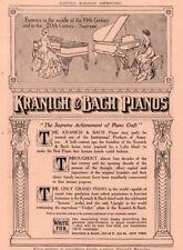 1910 C AD  KRANICH BACH PIANO NOUVEAU ART