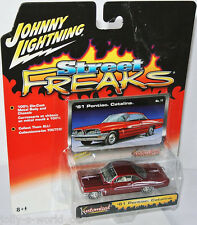 Kustomized - 1961 PONTIAC CATALINA - red/graphics - 1:64 Johnny Lightning