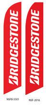 New listing Bridgestone Flutter Feather Flag Swooper Advertising Sign Ba