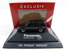 "VW Passat ""Panasonic Büromaschinen"" schwarz Herpa in PC Vitrine 1:87 H0 OVP [K1]"