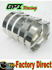 """8 x 2.5"""" inch 63mm Turbo Pipe Hose Coupler T-bolt Clamps Stainless Steel 67-75mm"""