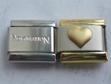 GENUINE NOMINATION ITALIAN LINK CHARM + UNBRANDED GOLD HEART BRACELET CHARM W3