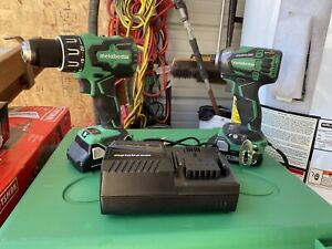 Metabo HPT Cordless Hammer Drill and Impact Driver Kit w/ Batt Charger & Case