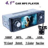 """1 DIN 4.1"""" HD Bluetooth Autoradio FM Station AUX Auto MP5  MIT Rückfahrkamera"""
