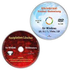 Universal Treiber-Sammlung für Windows + Festplatten Löscher & Formatiere