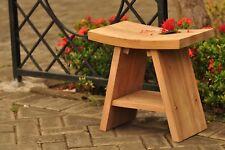 Grade-A Teak Wood Asian Bath Side End Table Stool Shelf Shower Outdoor Furniture
