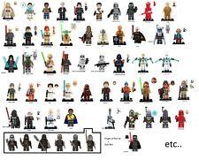 Minifigure Star Wars Lego custom modèles au choix. Figurine Yoda, Vador Figuren