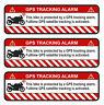 3er Set GPS Motorrad Weiß Aufkleber Folie Diebstahlschutz Alarm Tracker R056