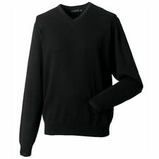 Unifarbene Herren-Pullover & -Strickware mit V-Ausschnitt aus Baumwollmischung