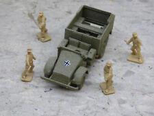 Airfix Compatible 1/72 WWII German Krupp L2H Truck & Airfix Soldiers Lot#3728B