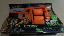 FlipFury Nerf Zombie Strike Toy Blaster with 2 Flipping Drums and 12 Official
