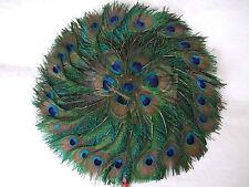 Beautiful Natural Peacock Feather Fan Dance/Burlesque/CULTE/décoration/art