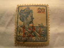 Netherlands Indies Stamp 1930 Scott 158 A12  Blue Overprint