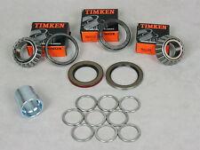 63-82 Corvette 1 Wheel Bearing Spacer&Shim Kit, & 2 Timken Bearing/Seal Kit-Rear
