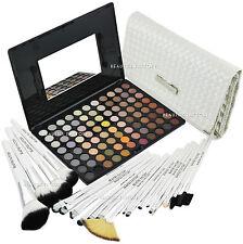 88 Colour Warm Eye Shadow Makeup Palette & 20 pcs Brushes White Swan (#588F#813)