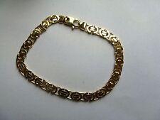 "7.5"" 5mm Ladies 9ct Gold Flat Byzantine Bracelet 11.5g"