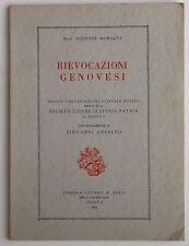 RIEVOCAZIONI GENOVESI Morgavi 1954 -Caruggi, Papi genovesi, genovesi in Sardegna