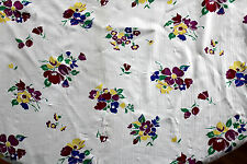"""Very Rare Deadstock 1930's French Silk Chiffon """"Tulips and Flowers"""" 5 Yd x 45""""W"""
