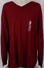 Club Room Mens Big & Tall 3XLT Cherry V-Neck Sweater Merino Wool Blend $96 NWT