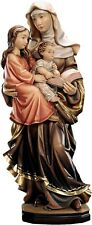 Statue St.Anne With Mary & Jesus Child made in Wood Various Measures