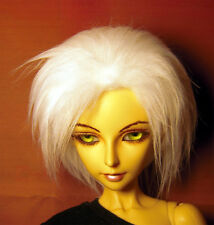 White fake fur size 8-9 wig for Luts Delf, 1/3 bjd DOLL