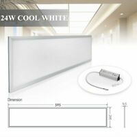 24W Rectangle Recessed Flat LED Ceiling Panel Light Down Lamp Bulb Fixture WW