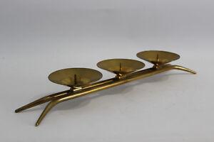 Design Kerzenständer 50er Modern Candlestick 50s Brass Messing Candleholder RARE